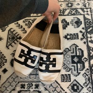Tory Burch espadrilles black and white size 9 1/2